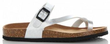 Eleganckie Klapki Damskie firmy Ideal Shoes Srebrne