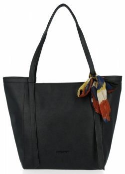 David Jones Uniwersalna Torebka Damska Shopper Bag z apaszką Czarna