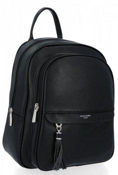 Uniwersalny Solidny Plecak Damski z kieszenią na tablet firmy David Jones Czarny