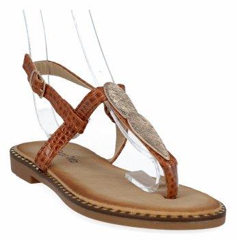 Camelowe modne sandały damskie firmy Sergio Todzi