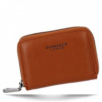 Uniwersalne Małe Portfele Damskie firmy Diana&Co Brązowy