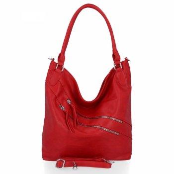 Uniwersalna Torebka Damska XL firmy Herisson Firenze Czerwona