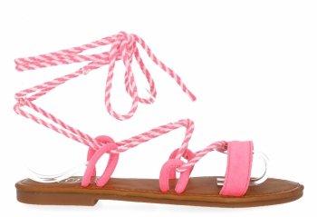 Fuksjowe modne sandały damskie firmy Givana