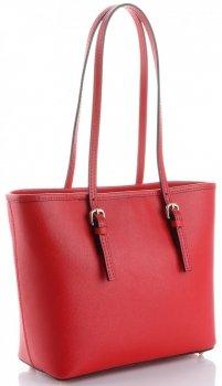 Klasyczne Torebki Skórzane Genuine Leather Czerwona