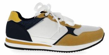 Granatowe modne sneakersy damskie firmy Bellucci