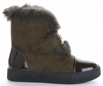 Modne i Eleganckie Sneakersy Damskie Śniegowce firmy Sergio Todzi Khaki