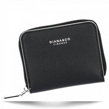 Poręczne Uniwersalne Portfele Damskie firmy Diana&Co Czarny