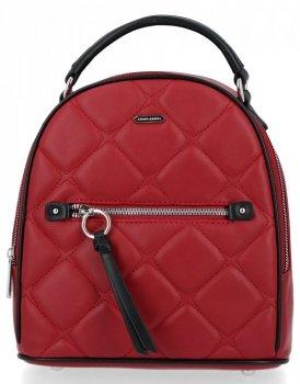 Elegancki Pikowany Plecak Damski firmy David Jones Ciemno Czerwony