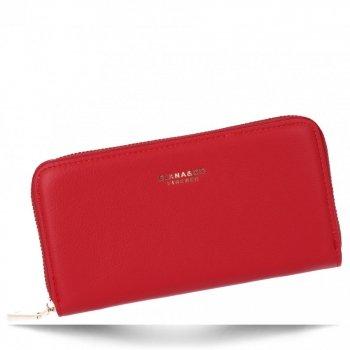 Uniwersalne Portfele Damskie XL firmy Diana&Co Czerwony