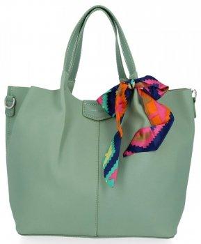 David Jones Torebka Damska XL Shopper Bag z Listonoszką Mięta