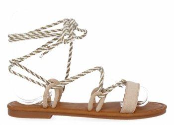 Beżowe modne sandały damskie firmy Givana