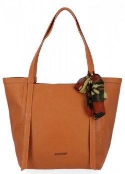 David Jones Uniwersalna Torebka Damska Shopper Bag z apaszką Ruda