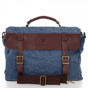 BEE BAG Uniwersalna Listonoszka Damska Vintage Style Granat