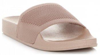 Uniwersalne Klapki Damskie firmy Ideal Shoes Beżowe