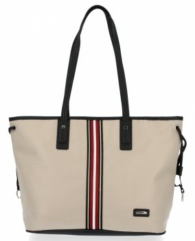 Modna Torebka Damska Shopper Bag firmy David Jones Beżowa
