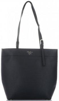 Klasická dámska nákupná taška David Jones čierny