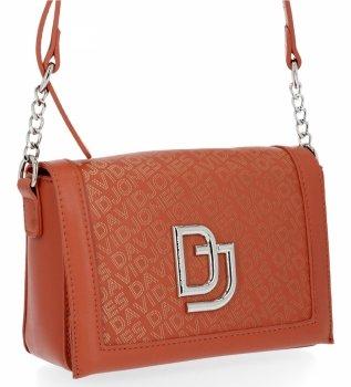 David Jones Dámska dizajnérska taška na Messenger Vyrobená z koralovej farby