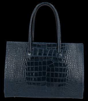 Vittoria Gotti klasické kožené tašky s aligátor vzor Aktovka A4 granát