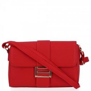 Herisson Firemná taška dámska elegantná taška na Messenger Červená