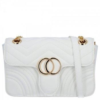 Elegantná dámska taška na messenger pre všetky príležitosti od Herisson biela
