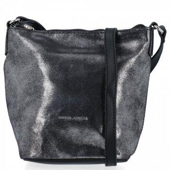 Módna dámska taška David Jones Dark Silver