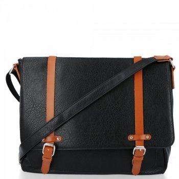Módne dámske veľké messenger taška XL Vintage od David Jones čierny