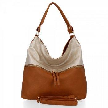 Bee Bag štýlová univerzálna dámska taška XL Zelia Červená / Zloty