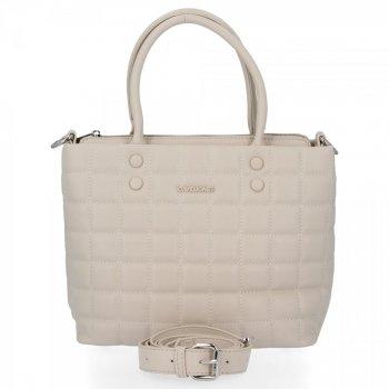 David Jones Elegantná taška Dámska Prešívaná béžová taška
