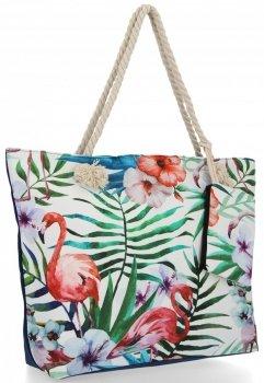 Módna dámska taška Flamingo Veľkosť XL dizajn ideálny pre letnú zelenú