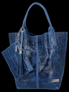 Univerzálna kožená nákupná taška XL v zvieracom štýle od Vittoria Gotti Denim