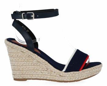 Tmavo modré dámske klinové sandále od Lady Glory