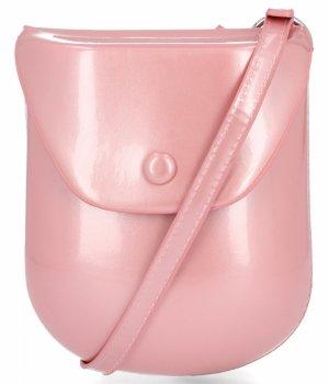 David Jones Firemná dámska taška Lakovaná koža Messenger taška Ružová