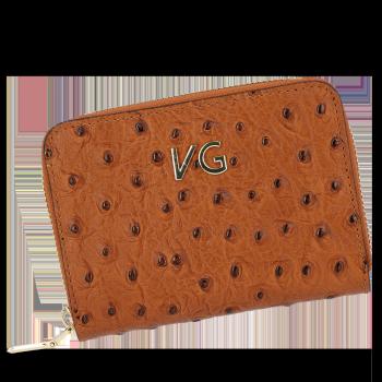Značkové kožené Dámske peŘaženky v štýle pštrosa Vittoria Gotti vyrobené v Taliansku Rudy