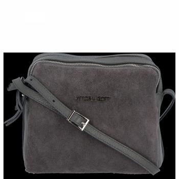 Značková Kožená taška Vittoria Gotti talianska taška Messenger pre každodenné nosenie Šedá
