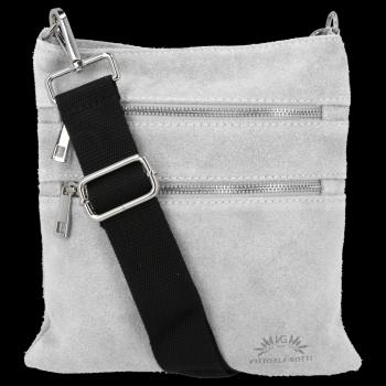 Univerzálne kožené tašky od spoločnosti Vittoria Gotti svetlo šedá