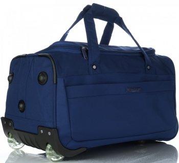 Snowball veľká cestovná taška XL na kolieskach so stojanom Tmavo modrá
