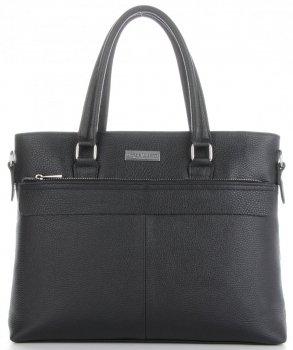 Vittoria Gotti Classic kožená Aktovka taška pre ženy A4 talianskej výroby Čierna