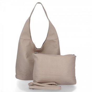 BEE Bag univerzálne Dámske tašky 2v1 Shopper s Lena-poštár Svetlo šedá