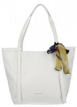 David Jones univerzálna dámska nákupná taška s bielym šatkou na krk