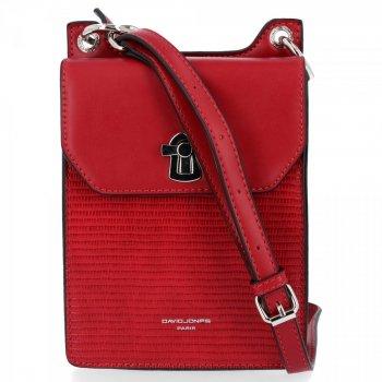 David Jones značkové kabelky Dámske elegantné Crossbody tašky Tmavo červená