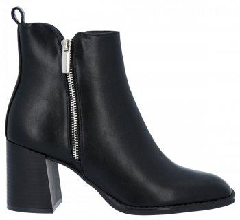 Čierne členkové topánky s hrubými podpätkami Melanie