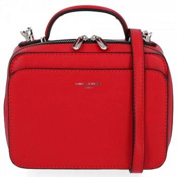 Elegantné Dámske malé Crossbody tašky David Jones červený