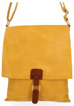 BEE Bag Módne Dámske Messenger Bag XL Napoli Žltá