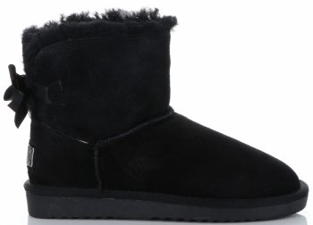 Talianske kožené členkové topánky dámske zimné topánky s prírodnou kožušinou čierne