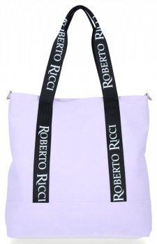Univerzálne a módne dámske nákupné tašky vo veľkosti XL od Roberto Ricci light purple