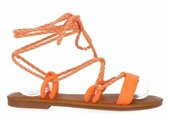 Oranžové módne dámske sandále od spoločnosti Givana