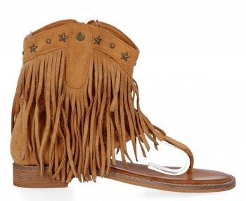 Camel Dámske sandále s okrajmi od Givany