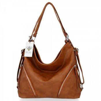 Bee Bag univerzálne Dámske tašky s funkciou ruksaku Madison červenýhead