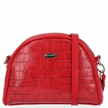 Módna dámska poštová taška v štýle zvierat David Jones červený