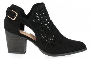 Čierne členkové topánky s hrubými podpätkami Bellucci